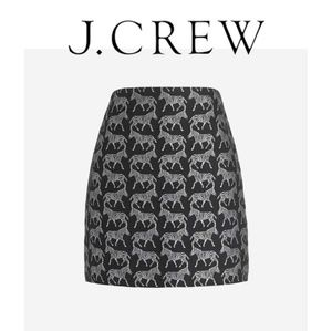 J.Crew Zebra Animal Jacquard Mini Skirt
